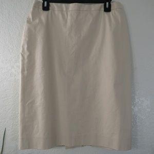 J.Crew Factory Lined Pencil Skirt Back Pleats Sz 8